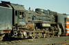 Withdrawn China Rail QJ 2173 is being shunted around Tongliao loco depot by one of it's successors.. 19th October 1999